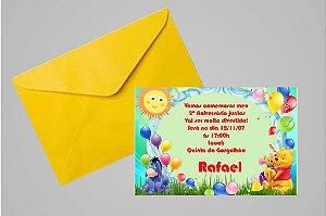 Convite 10x15 Ursinho Pooh -  Ursinho Puff 009