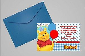 Convite 10x15 Ursinho Pooh -  Ursinho Puff 011
