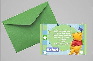 Convite 10x15 Ursinho Pooh - Ursinho Puff 014