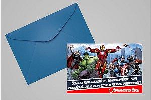 Convite 10x15 Vingadores 001