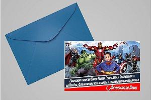 Convite 10x15 Vingadores 001com foto