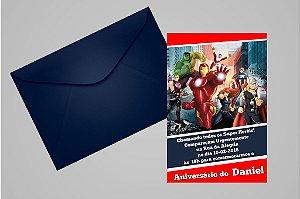 Convite 10x15 Vingadores 010