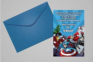 Convite 10x15 Vingadores 011