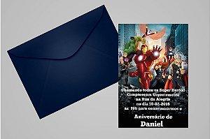 Convite 10x15 Vingadores 012