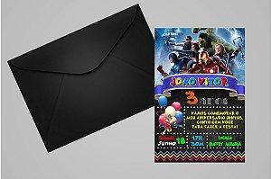Convite 10x15 Vingadores 013