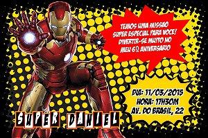 Convite digital personalizado Homem de Ferro 001