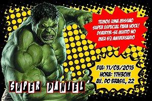 Convite digital personalizado O Incrível Hulk 002