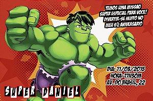 Convite digital personalizado O Incrível Hulk 003