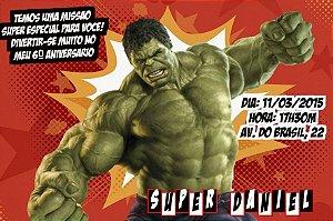 Convite digital personalizado O Incrível Hulk 004