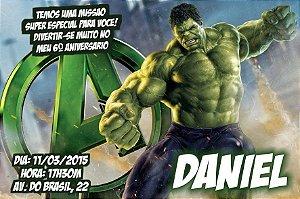 Convite digital personalizado O Incrível Hulk 006