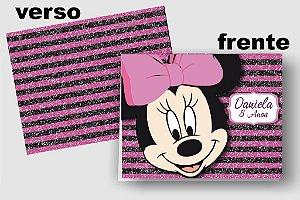 Convite Cartão Minnie com aplique scrap