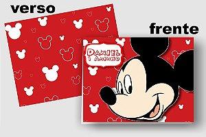 Convite Cartão Mickey com aplique scrap