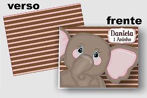 Convite Cartão Elefante com aplique scrap