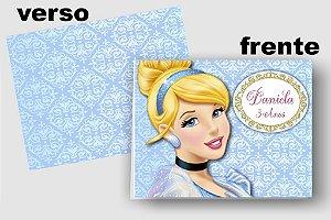 Convite Cartão Cinderela com aplique scrap