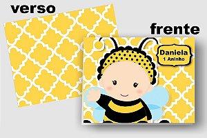 Convite Cartão Abelha com aplique scrap