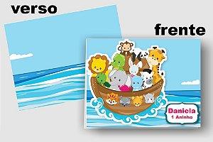 Convite Cartão Arca de Noé com aplique scrap
