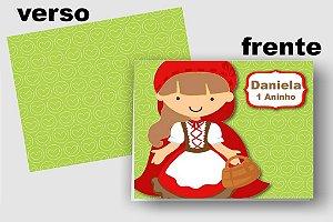 Convite Cartão Chapeuzinho Vermelho com aplique scrap