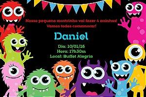 Convite digital personalizado Monstrinhos 009