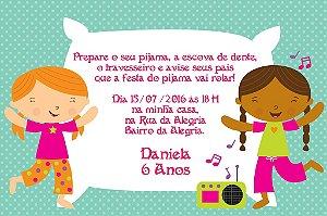 Convite digital personalizado Festa do Pijama 001