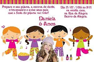Convite digital personalizado Festa do Pijama 003 com foto