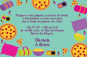 Convite digital personalizado Festa do Pijama 004
