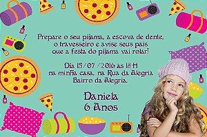 Convite digital personalizado Festa do Pijama 004 com foto