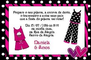 Convite digital personalizado Festa do Pijama 005