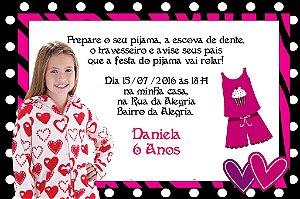 Convite digital personalizado Festa do Pijama 005 com foto