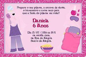 Convite digital personalizado Festa do Pijama 006