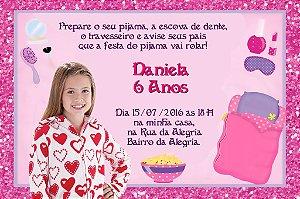 Convite digital personalizado Festa do Pijama 006 com foto