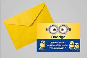 Convite digital personalizado Minions 009