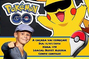 Convite digital personalizado Pokémon GO 007 com foto