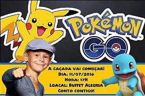 Convite digital personalizado Pokémon GO 008 com foto