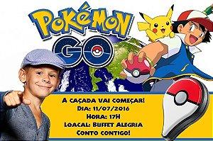 Convite digital personalizado Pokémon GO 009 com foto