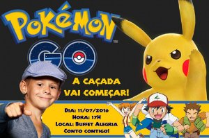 Convite digital personalizado Pokémon GO 010 com foto