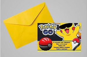 Convite 10x15 Pokémon GO 007 com ou sem foto