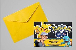 Convite 10x15 Pokémon GO 008 com ou sem foto