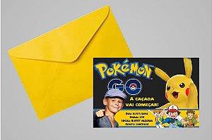 Convite 10x15 Pokémon GO 010 com ou sem foto