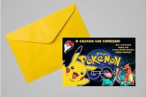 Convite 10x15 Pokémon GO 011 com ou sem foto