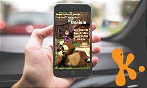 Convite digital personalizado Masha e o Urso 004