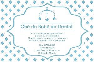 Convite digital personalizado para Chá de Bebê 027