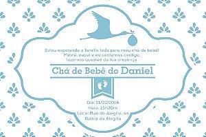 Convite digital personalizado para Chá de Bebê 029