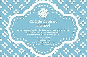 Convite digital personalizado para Chá de Bebê 030