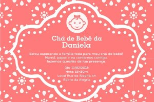 Convite digital personalizado para Chá de Bebê 036