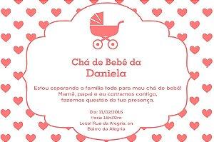 Convite digital personalizado para Chá de Bebê 037