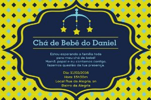 Convite digital personalizado para Chá de Bebê 039