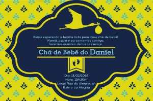 Convite digital personalizado para Chá de Bebê 041