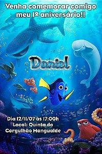 Convite digital personalizado Procurando Dory 006