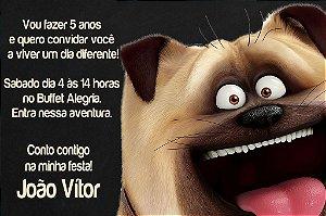 Convite digital personalizado Pets - A Vida Secreta dos Bichos 002