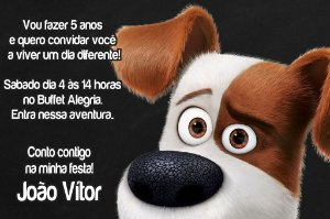 Convite digital personalizado Pets - A Vida Secreta dos Bichos 003